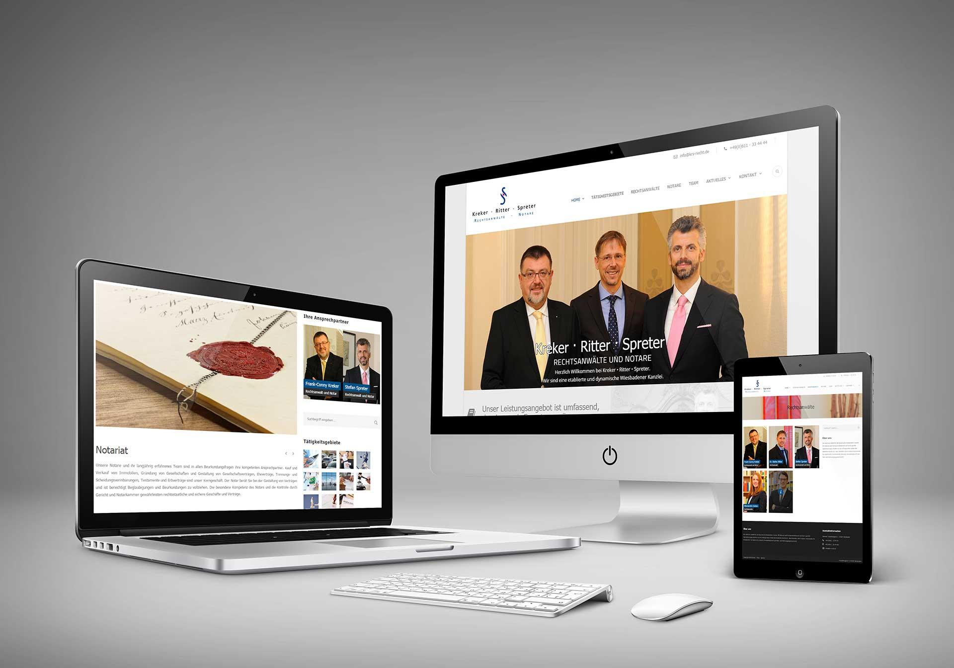 KRS Recht – Internetauftritt der Rechtsanwaltskanzlei